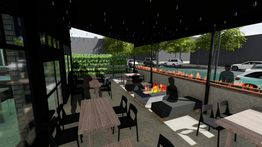 The future patio as 105 Noshery. Learn more about our exciting plans for this newest addition to the Roseville dining scene.