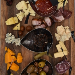 The Noshery Cheese and Meat Board